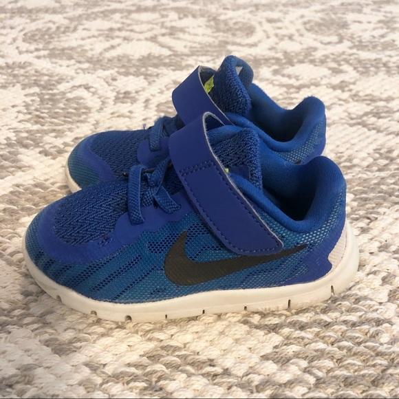 new styles 616b3 0cfa4 Nike Free 5.0 Toddler Baby Sneakers Blue Sz 7c
